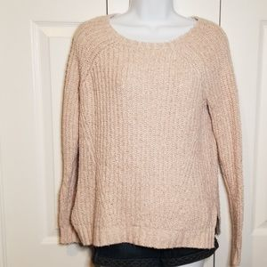 AOE Pink Cable Knit Sweater XS